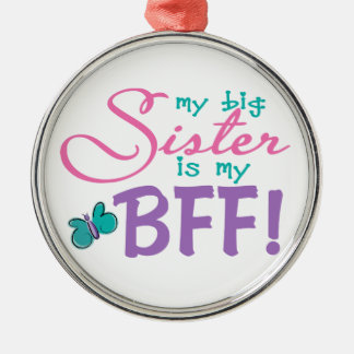 Butterfly Big Sister BFF Ornament
