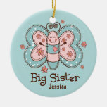 Butterfly Big Sister Personalized Ornament