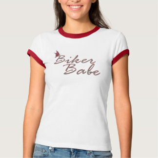 Butterfly Biker Babe T-Shirt (Red)
