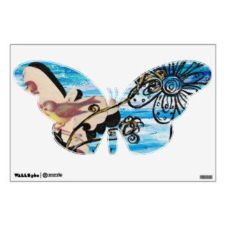 Butterfly Bird Wall Decal