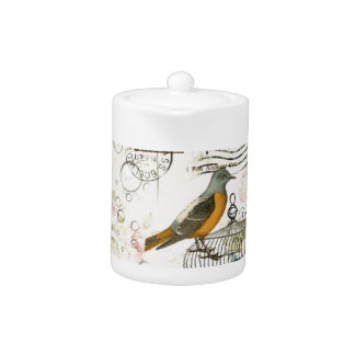 butterfly birdcage french camellia modern vintage teapot