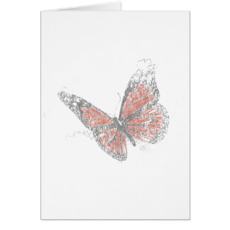 Butterfly (Biro) Card