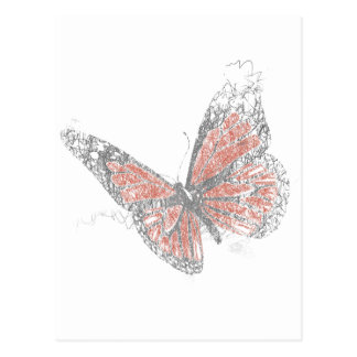 Butterfly (Biro) Postcard