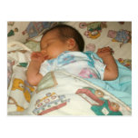 Butterfly birth announcement photo postcard