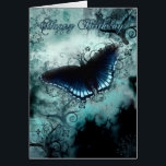 """Butterfly Birthday Card - Blue Butterfly Birthday<br><div class=""""desc"""">Butterfly Birthday Card - Blue Butterfly Birthday Card</div>"""