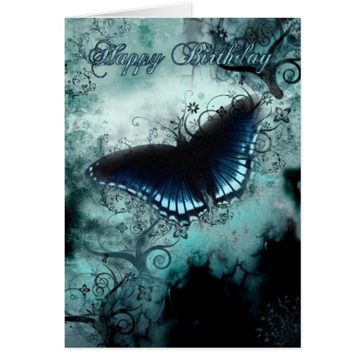 Butterfly Birthday Card - Blue Butterfly Birthday