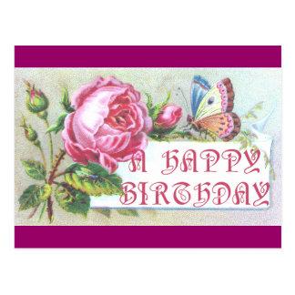 Butterfly Birthday Card Postcard