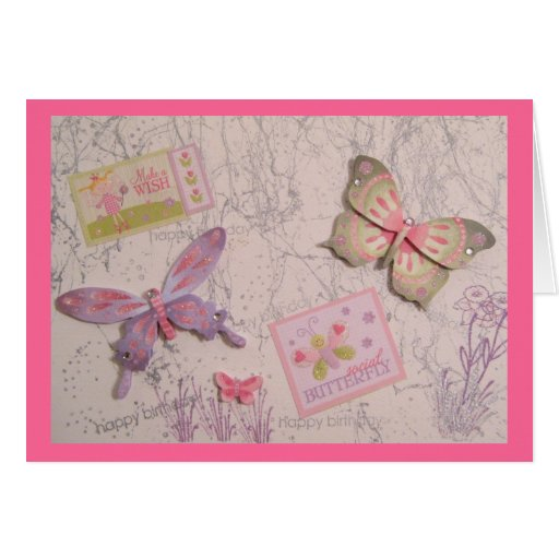 Butterfly Birthday Greeting Card
