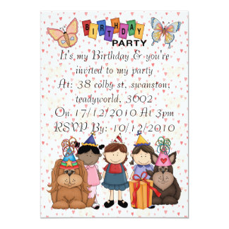 "Butterfly Birthday 5"" X 7"" Invitation Card"