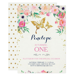 Butterfly Invitations Announcements Zazzle