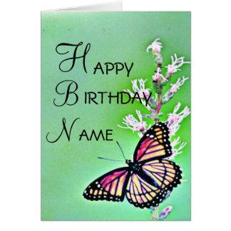Butterfly Birthday Invitation Greeting Card
