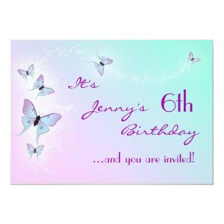 Butterfly Birthday Invitation Card