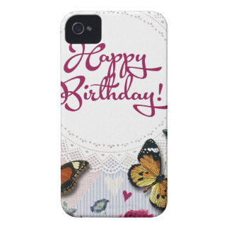 Butterfly Birthday iPhone 4 Cover