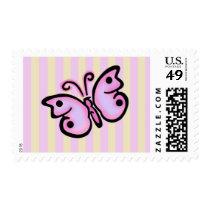 Butterfly Birthday Medium Postage Stamps