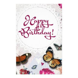 Butterfly Birthday Stationery