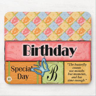 Butterfly Birthday Wishes Mouse Pads