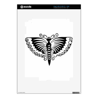 Butterfly Black and White Wings iPad 2 Decals