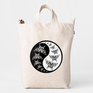 Butterfly Black And White Yin Yang Harmony Symbol Duck Bag