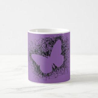 BUTTERFLY ( black scribble ) Coffee Mug