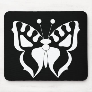 Butterfly Black/White Mouse Pad