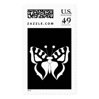 Butterfly Black/White Postage