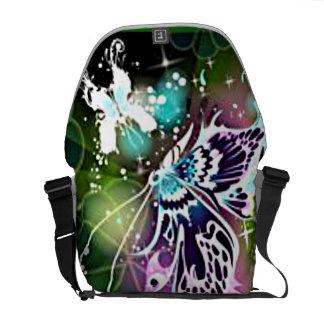Butterfly Bliss Rickshaw Messenger Bag