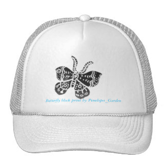 Butterfly block print by Penelopes_Ga... Trucker Hat