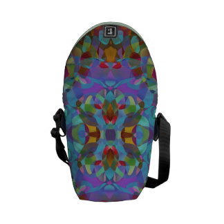 Butterfly Blossoms 7 Pretty Kaleidoscopic Abstract Messenger Bag