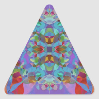 Butterfly Blossoms 7 Pretty Kaleidoscopic Abstract Triangle Sticker