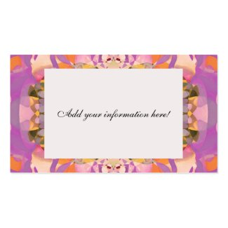 Butterfly Blossoms in Magenta Business Card Template