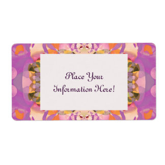 Butterfly Blossoms in Magenta Label