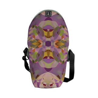 Butterfly Blossoms in Magenta Messenger Bags