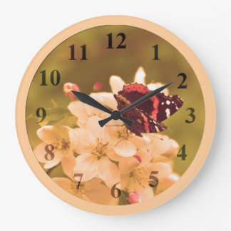 Butterfly Blossoms Large Wall Clock by Janz