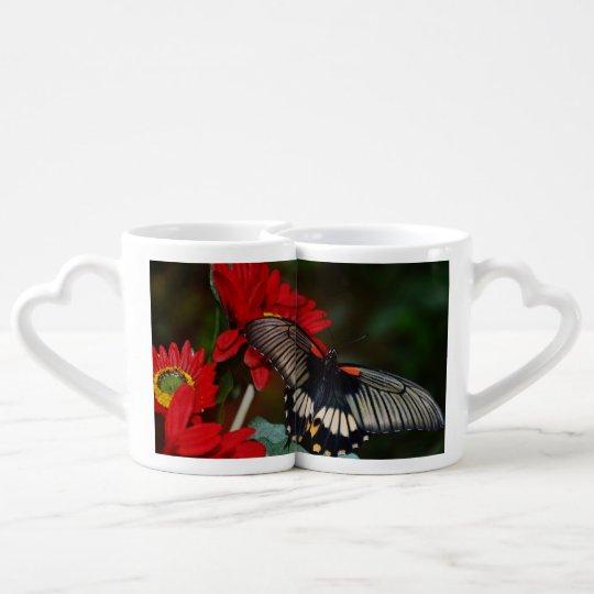 Butterfly Blossoms Love Wedding Shower Peace Coffee Mug Set