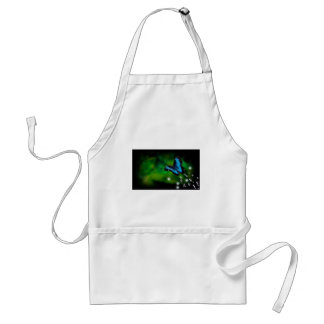 butterfly blue adult apron