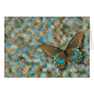 Butterfly: Blue and Brown Swallowtail Card