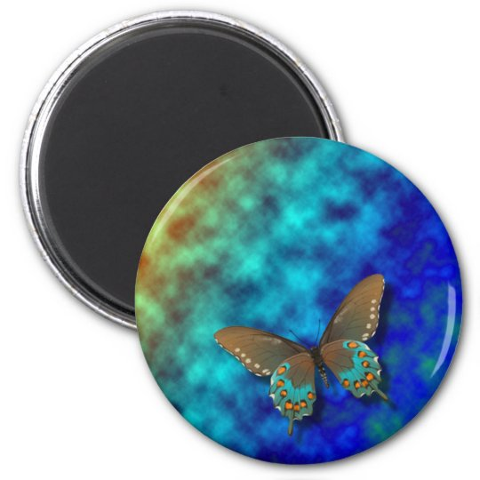 Butterfly: Blue and Brown Swallowtail Magnet