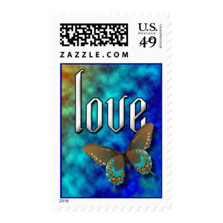 Butterfly: Blue and Brown Swallowtail Stamp