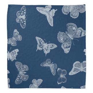 butterfly blue bandana