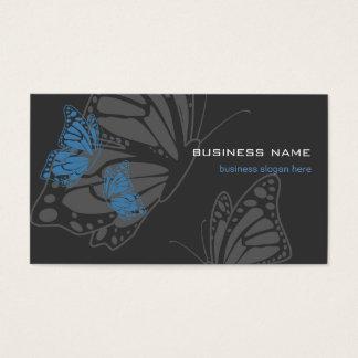 Butterfly Blue & Dark Elegant Modern Business Card