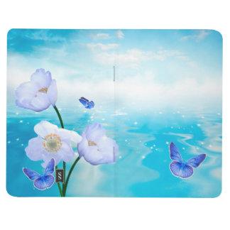 Butterfly Blue Flowers Blossoms Peace Love Destiny Journal