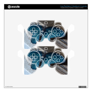 butterfly blue insect flying beautiful wings PS3 controller decal