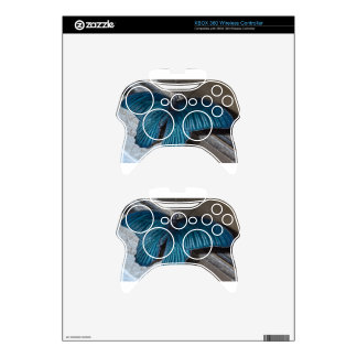 butterfly blue insect flying beautiful wings xbox 360 controller skin