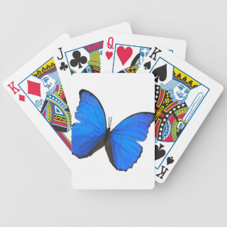 butterfly blue morpho wings bicycle playing cards