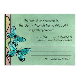Butterfly Blue on Emerald Green Card