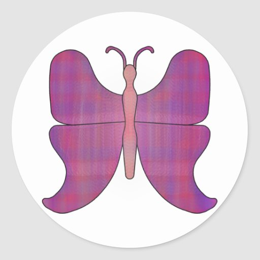 Butterfly Blue Tip Stickers