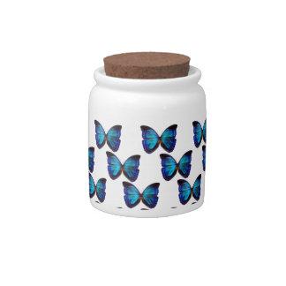 Butterfly Blues Candy Jar