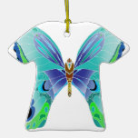 Butterfly Blues Christmas Ornament