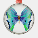Butterfly Blues Christmas Tree Ornaments