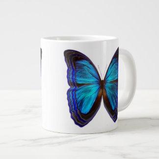 Butterfly Blues Giant Coffee Mug